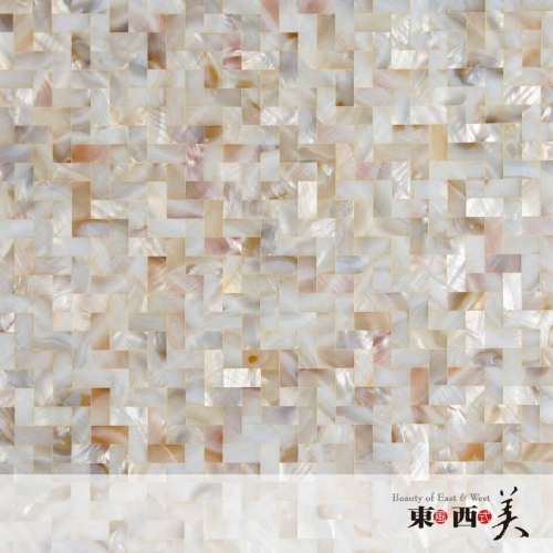 Mosaic Herringbone Mother of Pearl Tile