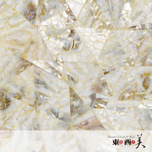Triangle Seamless Mother of Pearl Wall Tile