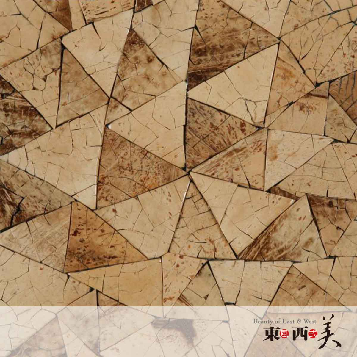 Triangle Wall Panel Coconut Tiles