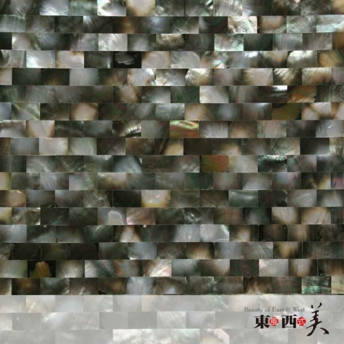 mother of pearl black mosaic wall tiles