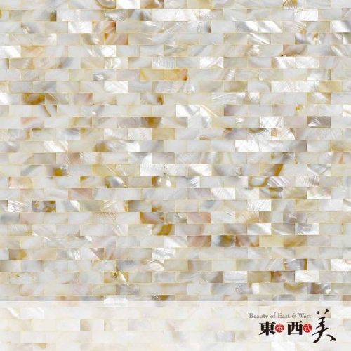 Brown Mother of Pearl Rectangle Mosaic Tiles