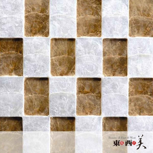 White and Gold Capiz Shell Mosaic Tile