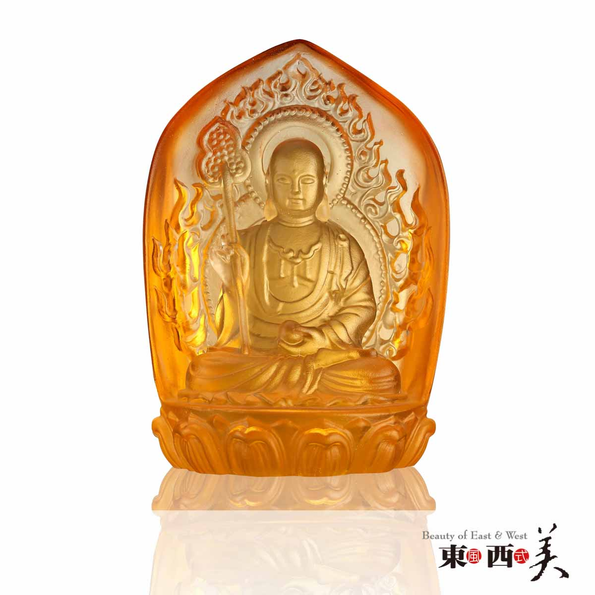 Ancient Chinese Crystal Ksitigarbha Statue