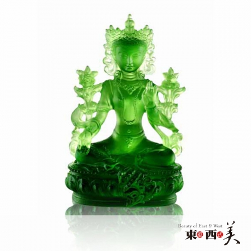 Green Tara Liuli Glass Crystals for Sale