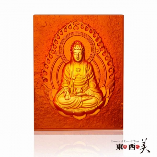 Liuli Crystal Buddhas Home Decor Block