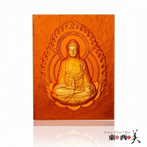 Coloured Glaze Buddha Statue Decor Block