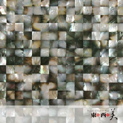 Mother of Pearl Black and Silver Mosaic Tiles
